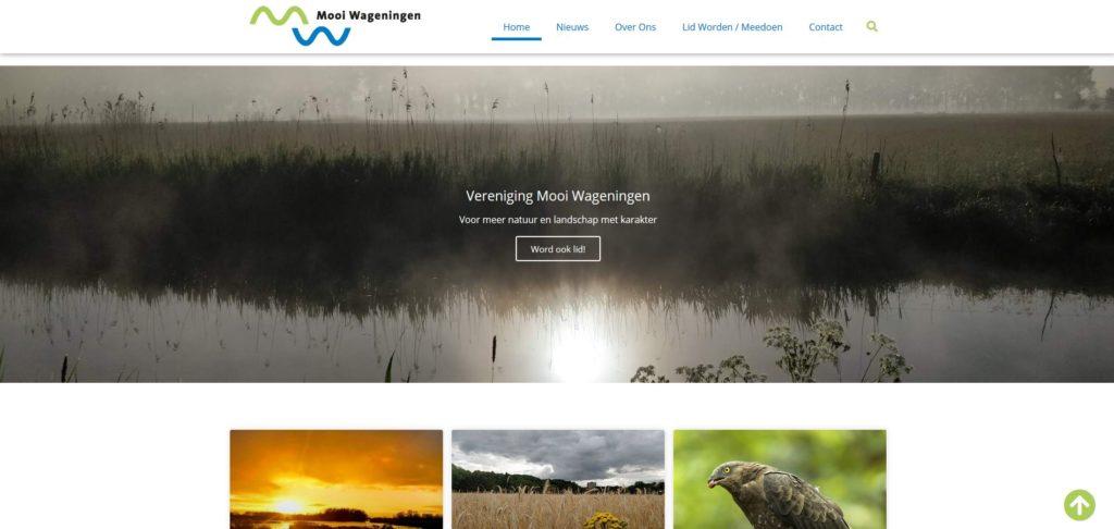 beeld nieuwe homepage mooi wageningen